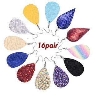 Jewelry - 16 Pairs of Petal TearDrop Variety Earrings!
